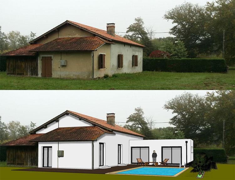 Exemples de r alisations for Extension maison zone n